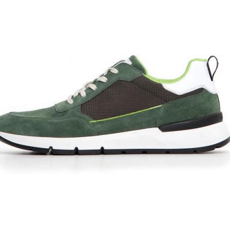 Sneaker homme en cuir vert...
