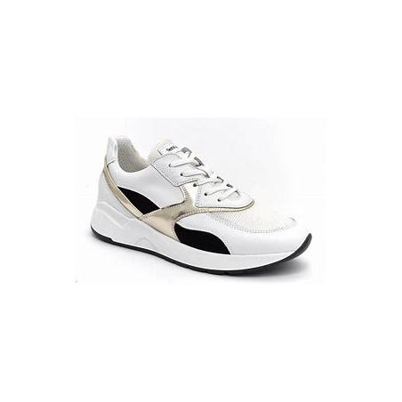 Sneaker femme en cuir blanc...