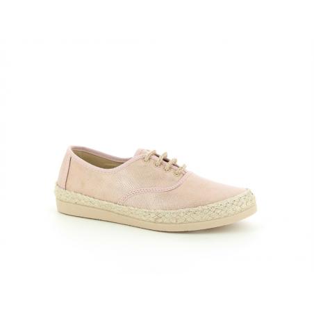 chaussure en toile rose et...