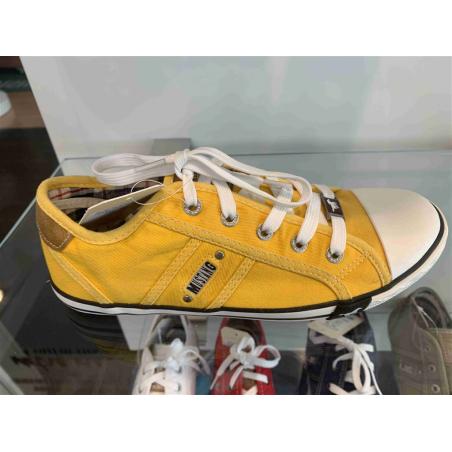 basket en toile mustang jaune