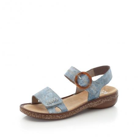 Sandale Plate RIEKER bleue...