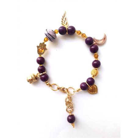 Bracelet fantaisie violet