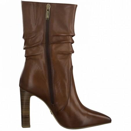 Mi-Bottes cuir marron...