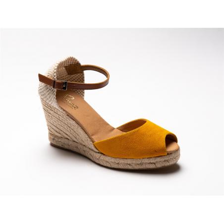 sandale compensée bout...
