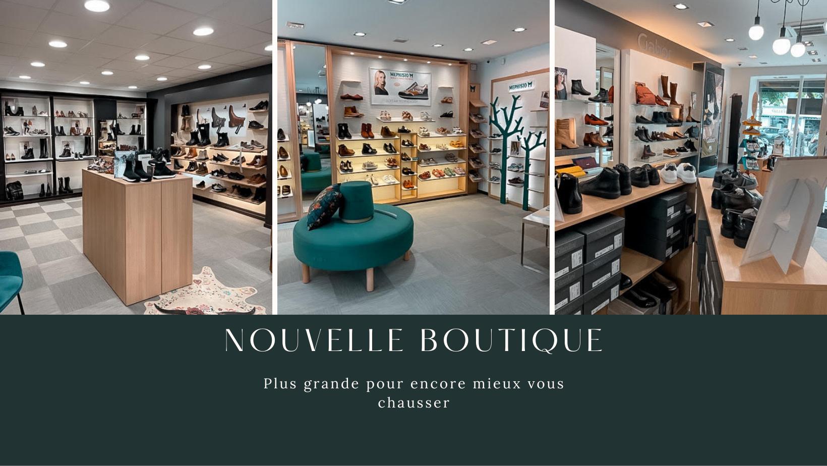 Nouvel espace, nouvelle boutque Roux Chaussures